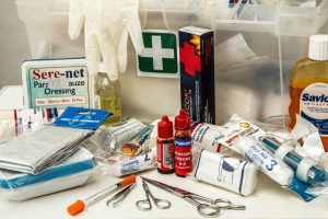 First aid kit materials for self care