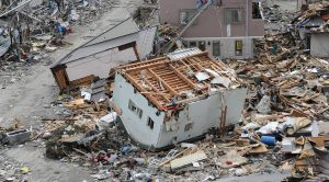 Disaster devastation flipped house after Tsunami